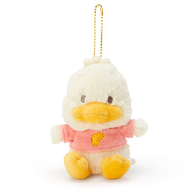 Ahiru no Pekkle Plush Mascot Holder Keychain Natural Forest Sanrio Japan