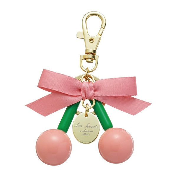 Keychain Key Holder Ribbon Cherry Pink Laduree Japan