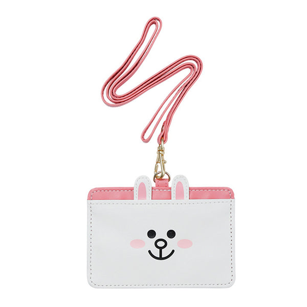 Cony Rabbit ID Card Holder Pass Case Strap LINE FRIENDS Japan