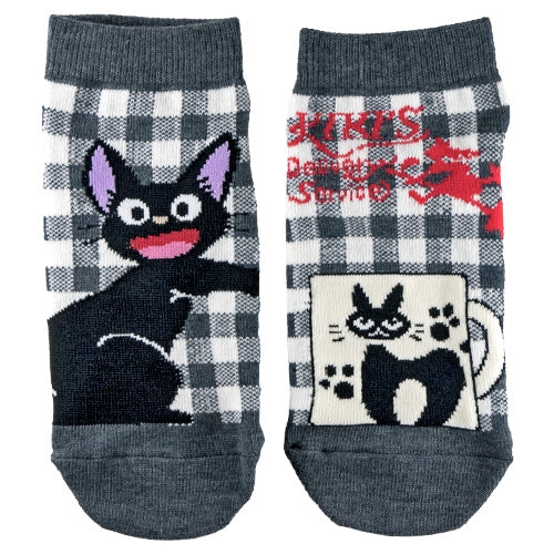 Kiki's Delivery Service Jiji Socks Gray Studio Ghibli Japan 23-25cm Cat