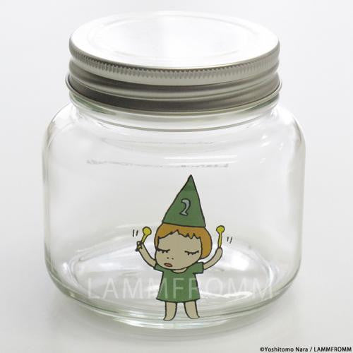 Yoshitomo Nara Glass Storage Jar S Girl 2 Green Japan Art