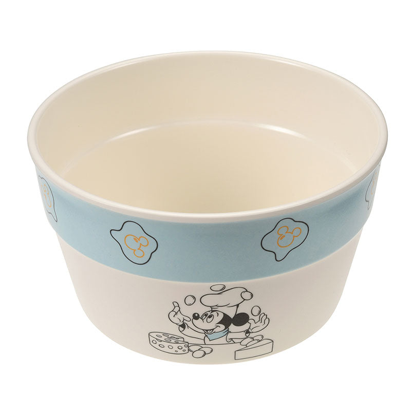 Mickey Melamine Bowl Fun Cooking Blue Disney Store Japan