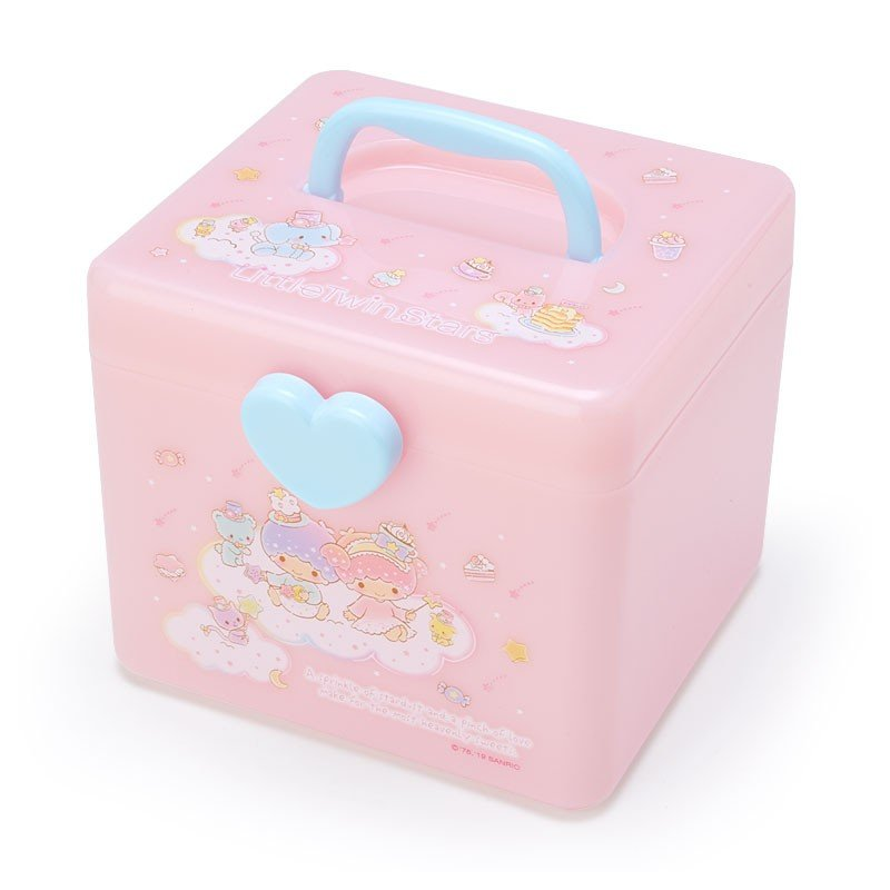 Little Twin Stars Kiki Lala Storage Box M with Handle Sanrio Japan