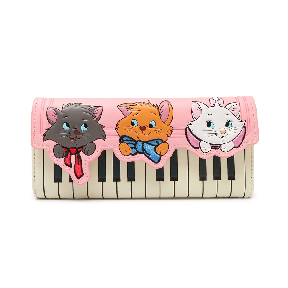 The Aristocats Long Wallet Piano Pink Loungefly Disney Store Japan
