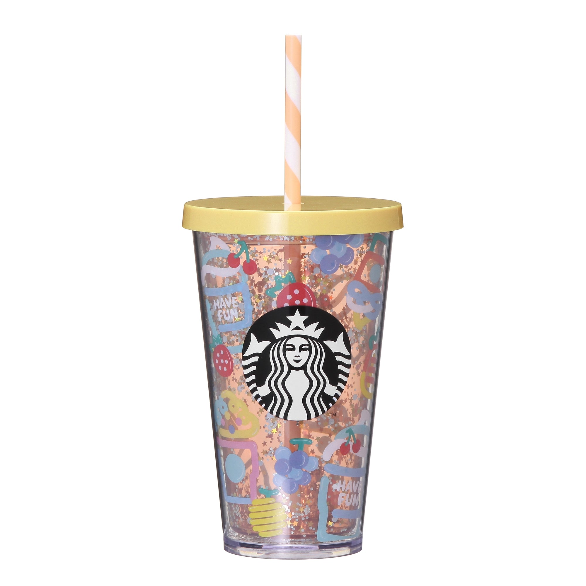 Cold Cup Straw Tumbler Frappuccino Party 473ml Starbucks Japan
