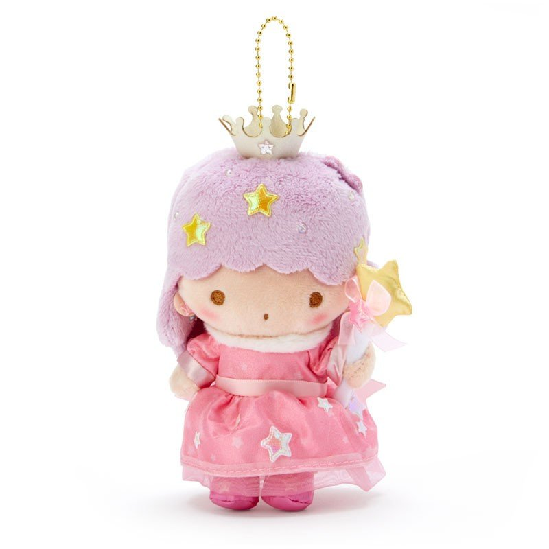 Little Twin Stars Lala Plush Mascot Holder Keychain Aurora Crown Sanrio Japan