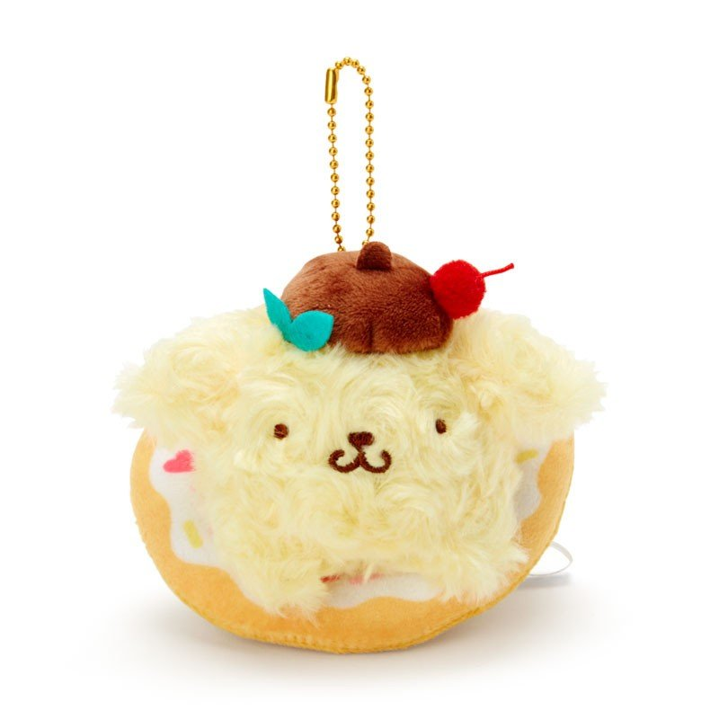 Pom Pom Purin Plush Mascot Holder Keychain Pudding a la mode Sanrio Japan