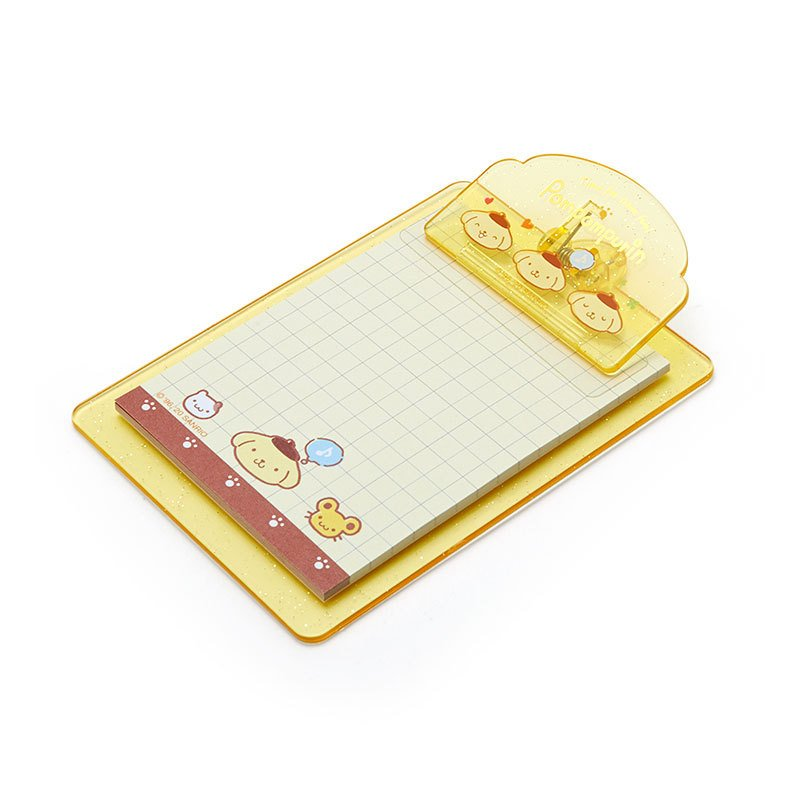 Pom Pom Purin mini Clipboard & Memo Face Sanrio Japan