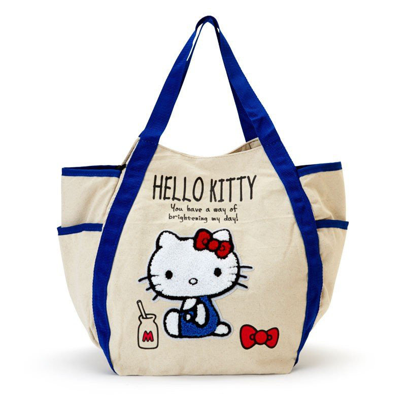 6215612703c4 Hello Kitty Balloon Tote Bag Sagara Embroidery Milk Sanrio Japan