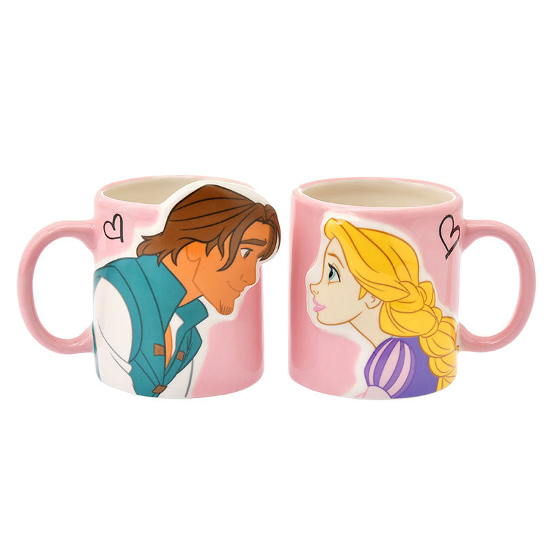 Tangled Rapunzel & Flynn Rider Mug Cup Pair Disney Store Japan Box