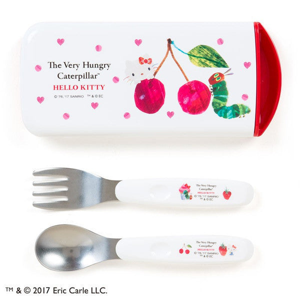 Hello Kitty The Very Hungry Caterpillar Lunch Combi Set Heart Sanrio Japan