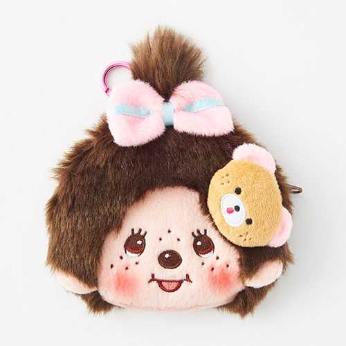 Monchhichi Coin Case Pouch HAPPY TRIP MONCHHICHI Japan