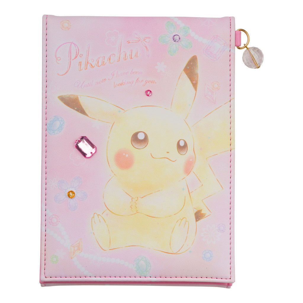 Pikachu Folding Mirror Pink Fluffy Jewel Pokemon Center Japan Original
