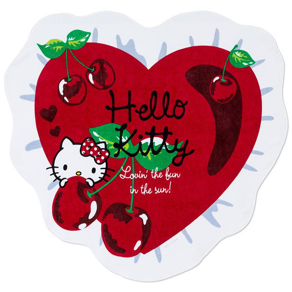 Hello Kitty Beach Towel Heart Cherry Sanrio Japan