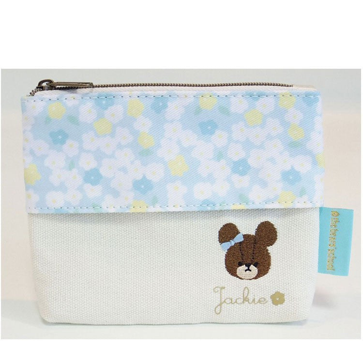 Jackie Tissue Pouch Blue Flower the bears' school Japan