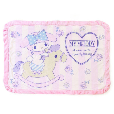 My Melody Boa Blanket Rocking Horse Flower Sanrio Japan
