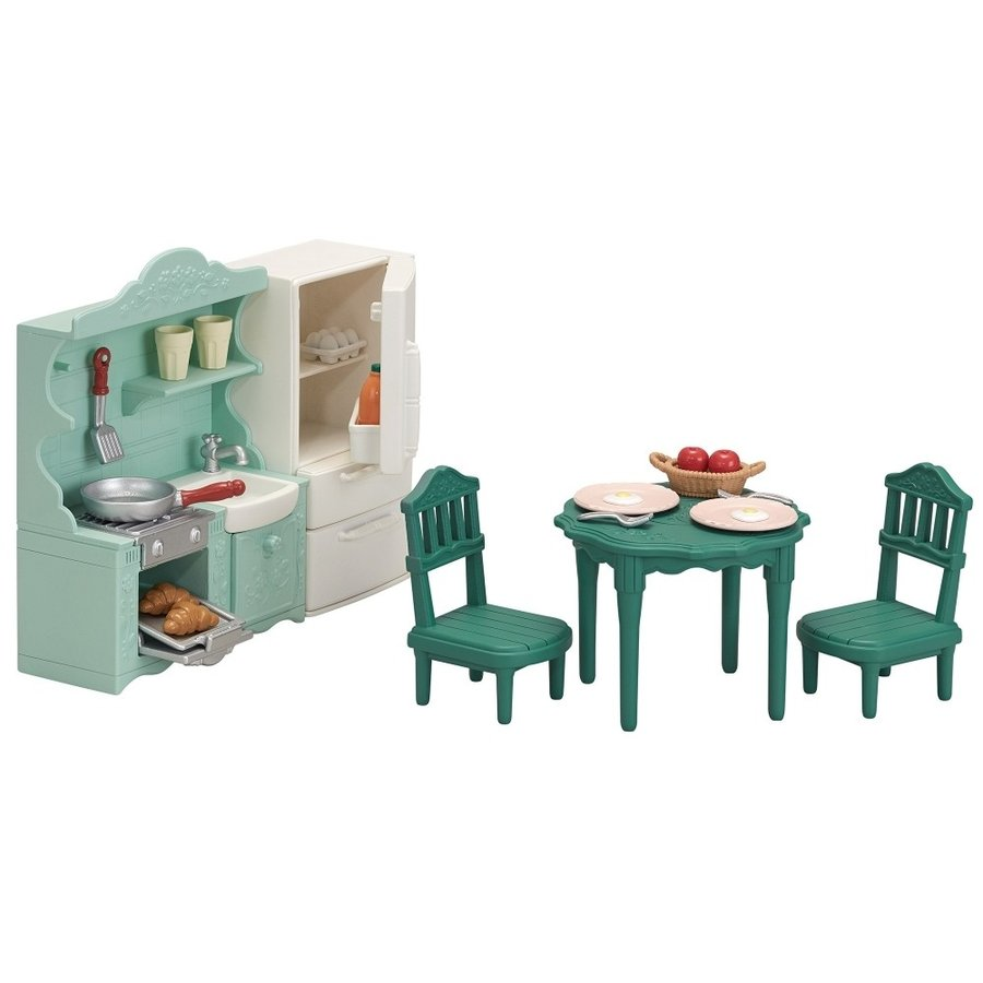 Sylvanian Families Furniture Dinning Room Set Se-198 EPOCH Japan
