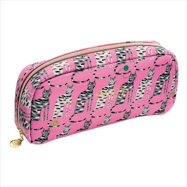 Pen Case Pencil Pouch Pastel M Drawing by Hand Cat Pink PAUL & JOE Japan