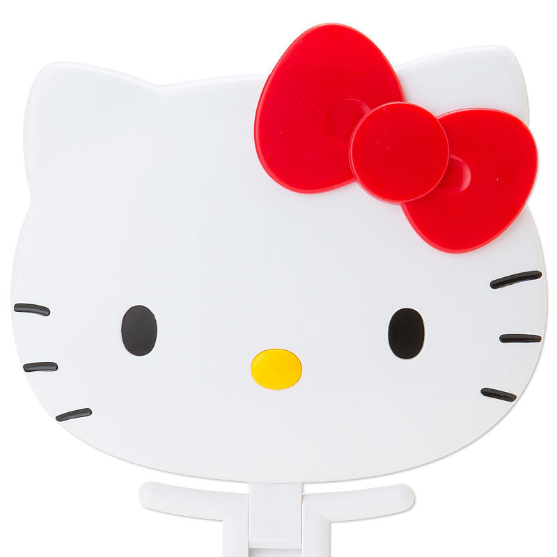 Hello Kitty Face shaped hand Mirror folding white Sanrio Japan