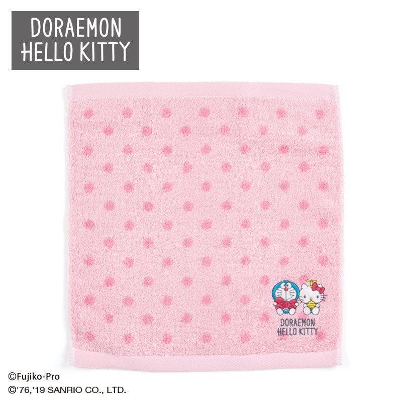 Doraemon & Hello Kitty Hand Towel Sanrio Japan 2019