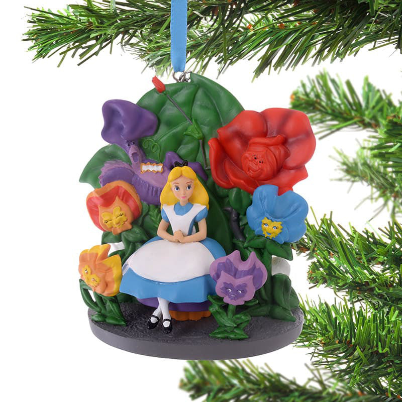 Alice in Wonderland Christmas Tree Ornament Disney Store Japan 2018