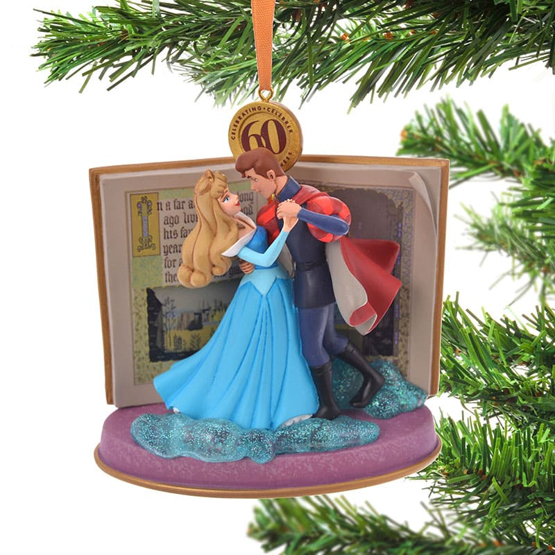 Aurora & Prince Phillip Christmas Tree Ornament Legacy Blue Disney Store Japan
