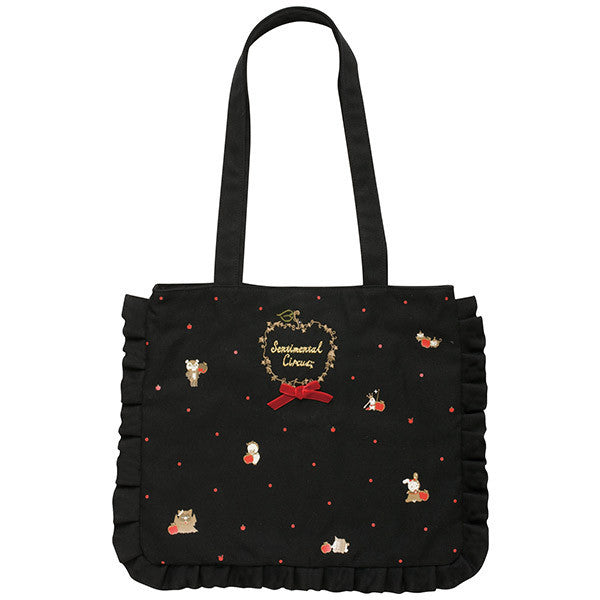 Sentimental Circus Canvas mini Tote Bag Patching Apple Snow White San-X Japan