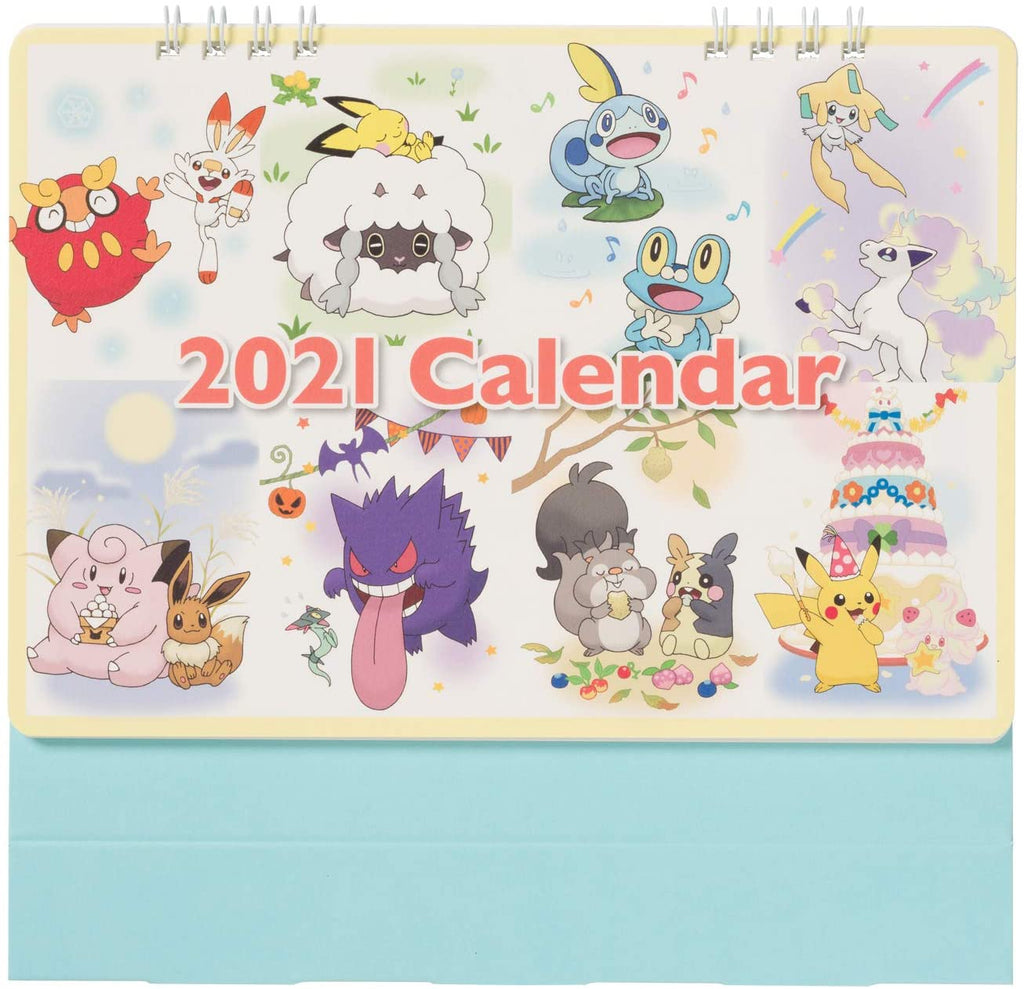 Calendar Desktop 2021 Pokemon Center Japan