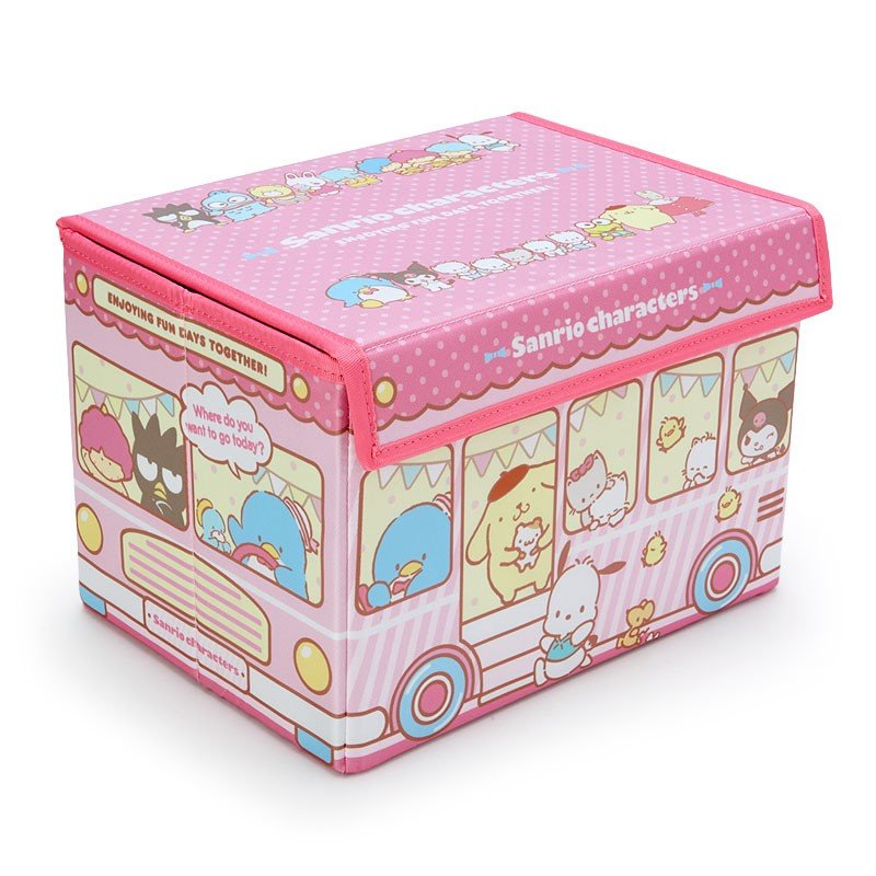 Storage Box with Lid Character Pink Sanrio Japan