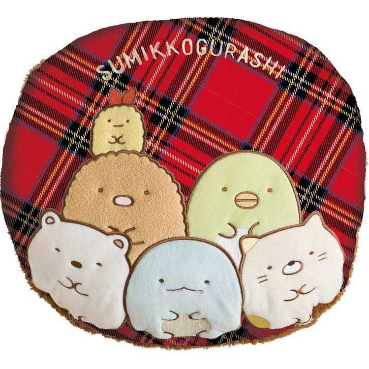 Sumikko Gurashi Warmer Cushion Plaid San-X Japan