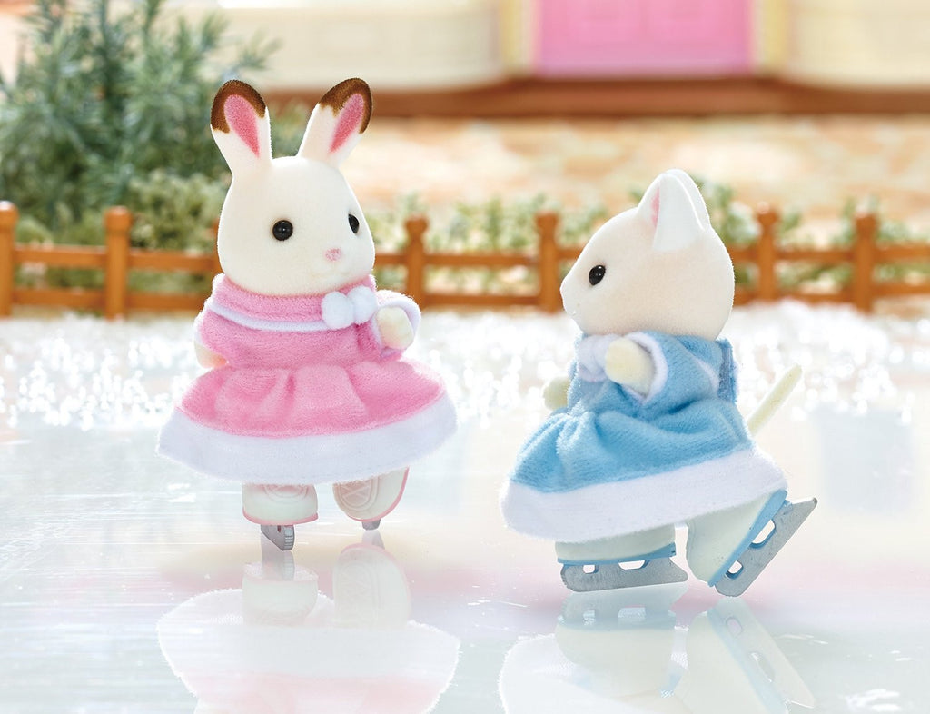 Sylvanian Families Ice Skating Dolls Costumes Set VS-03 Japan Calico Critters