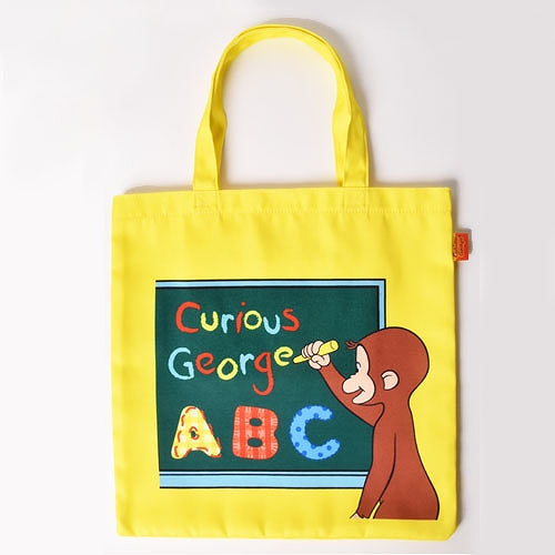 Curious George Lesson Tote Bag English Yellow Japan
