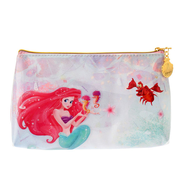 Ariel & Flounder Pen Case Pencil Pouch MERMAID LAGOON Disney Store Japan