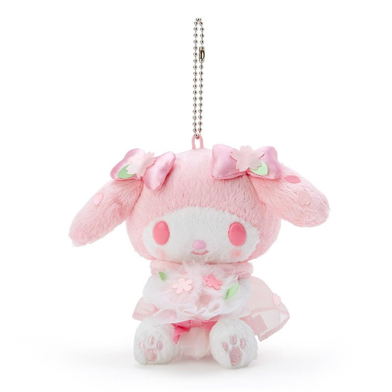 My Melody Plush Mascot Holder Keychain Sakura Sanrio Japan 2021