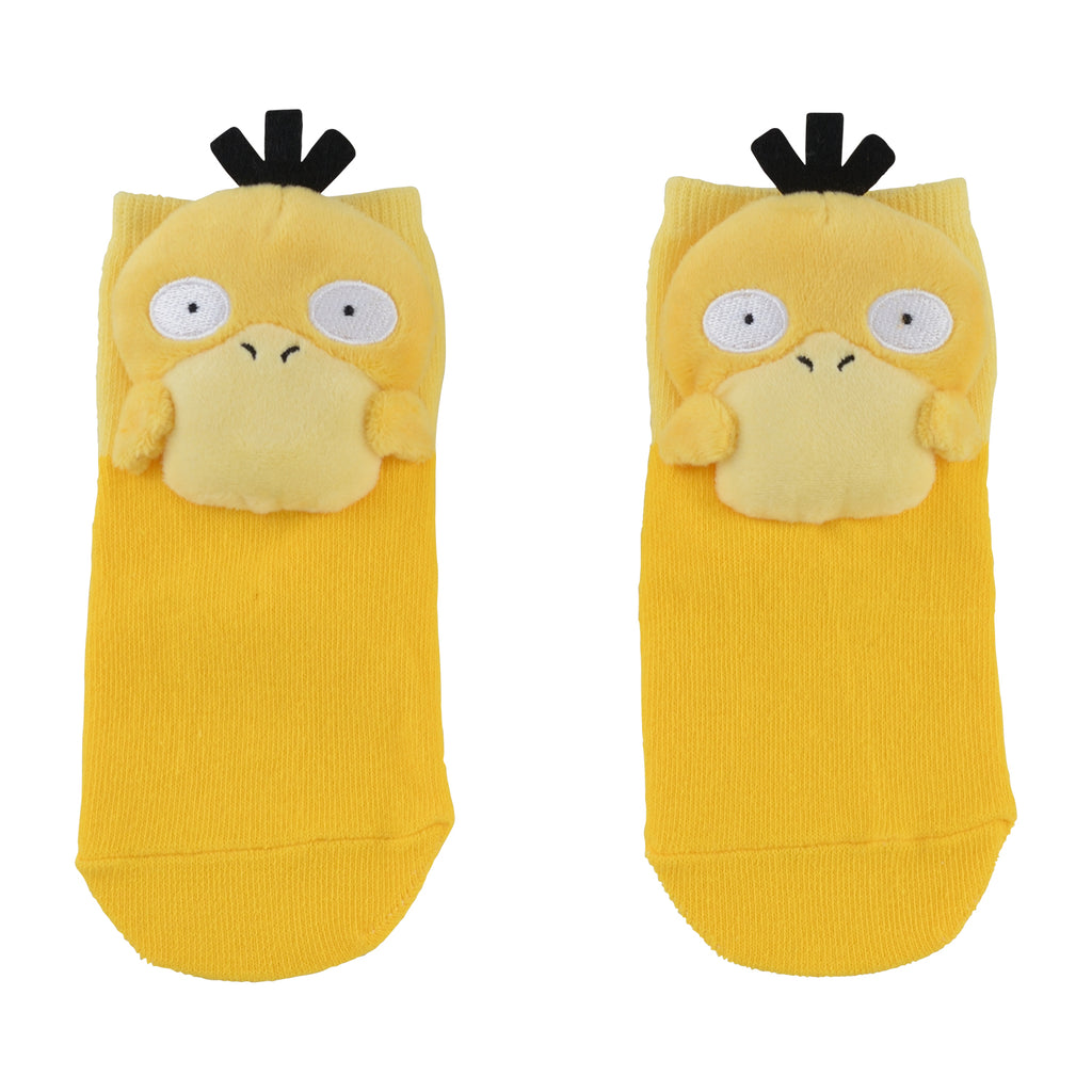 Psyduck Koduck Short Sock with Plush Mascot Pokemon Center Japan Kids 13-18cm