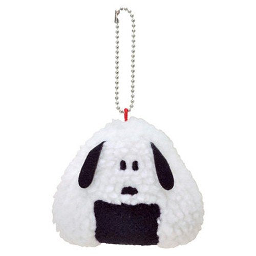 Snoopy Plush Keychain Rice Ball Onigiri PEANUTS Japan
