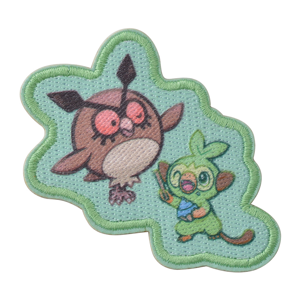 Grookey Sarunori Hoothoot Hoho Emblem Sticker Snorlax Yawn Pokemon Center Japan