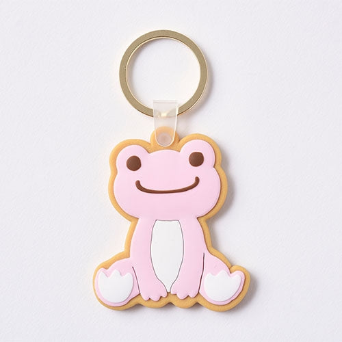 Pickles the Frog Keychain Key Ring Cookie Pink Japan