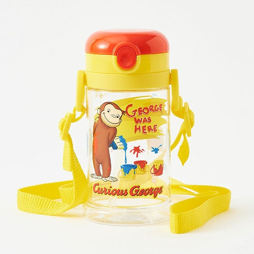 Curious George Training Straw Mug Cup Folding Handle Belt Japan Skater KSHW2N