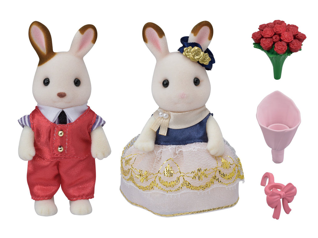 Town Series Cute Couple Set TVS-08 Sylvanian Families Japan Calico Critters