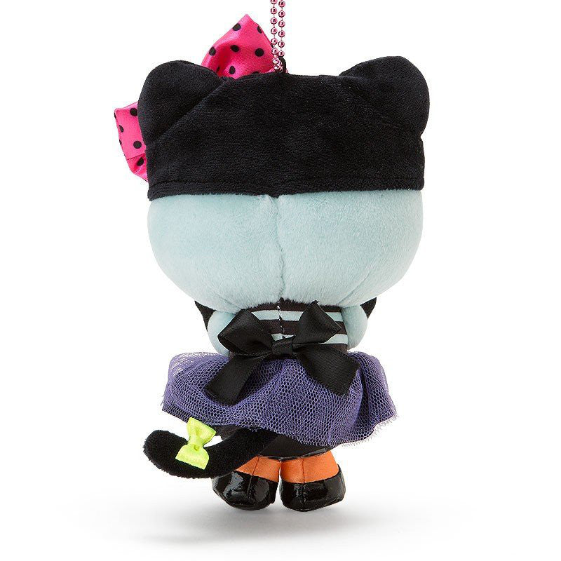 Hello Kitty Plush Mascot Holder Keychain Halloween 2018 Black Cat Sanrio Japan