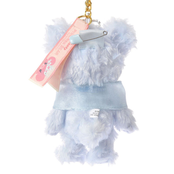 UniBEARsity Blue Rose Plush Keychain Disney Store Japan Princess BEAR Cinderella