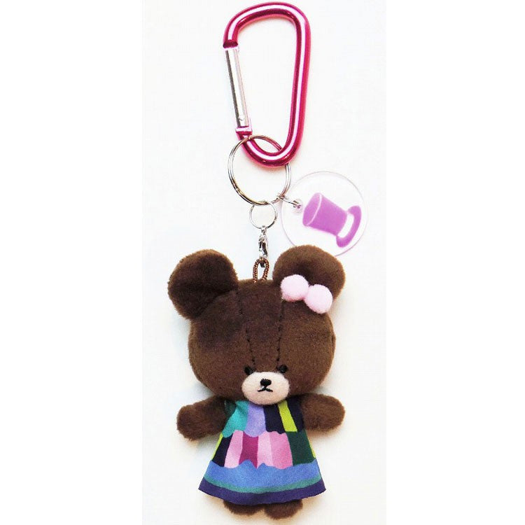 Jackie Plush Mascot Keychain Carabiner Party Dress the bears' school Japan