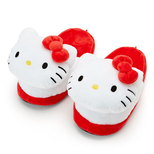 Hello Kitty Plush Face Slipper Sanrio Japan