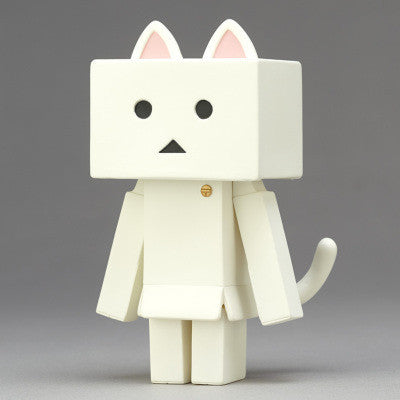 Nyanboard Soft Vinyl Toy Box Figure Shiro White Cat Yotsuba&! Danbo Japan