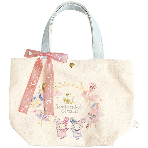 Sentimental Circus mini Tote Bag Shappo and Spica Cafe Twins Star San-X Japan