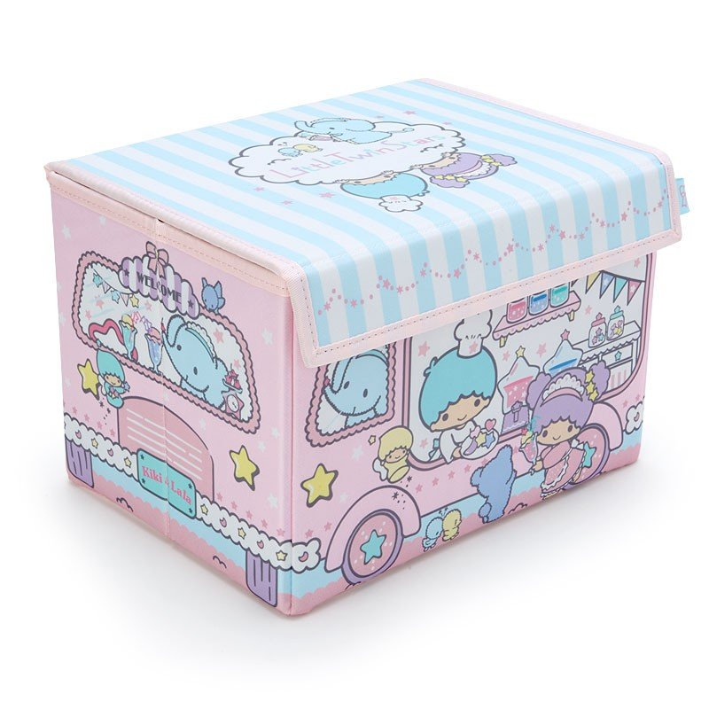 Little Twin Stars Kiki Lala Storage Box with Lid Sanrio Japan