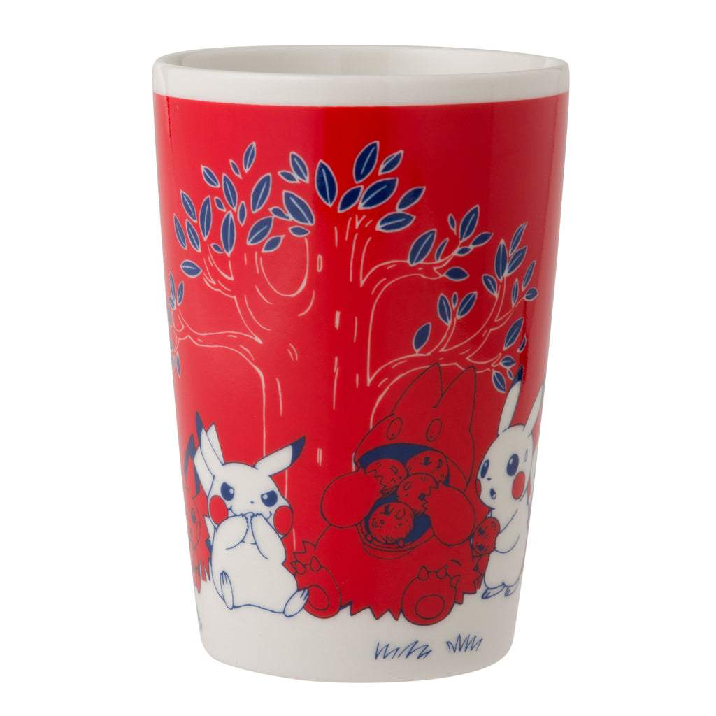 Tall Mug Cup Red Pikachu in the forest Pokemon Center Japan Oroginal