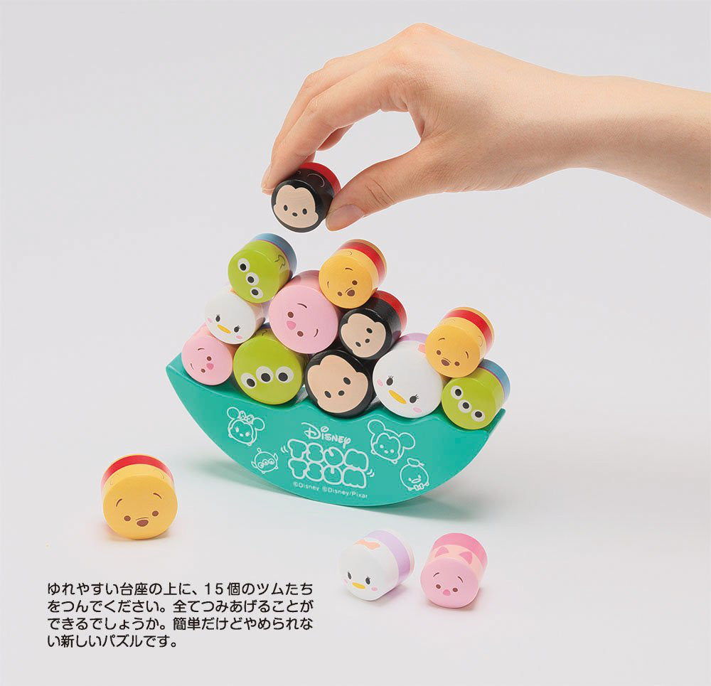 TSUM TSUM Wooden Balance Interior Puzzle Green 605-02 Disney Japan