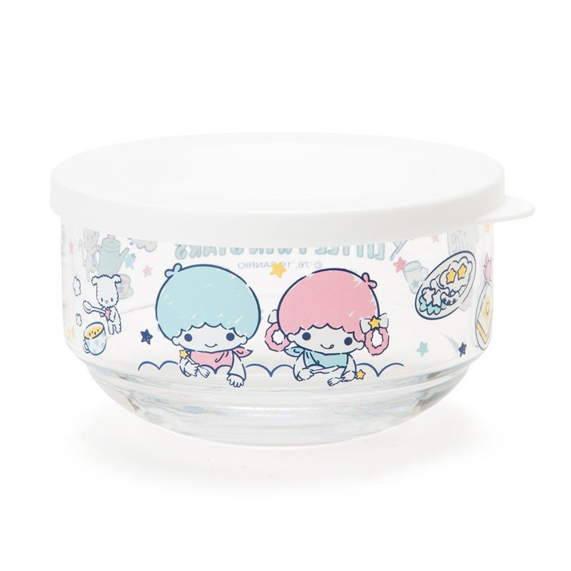 Little Twin Stars Kiki Lala Glass Bowl Breakfast Sanrio Japan